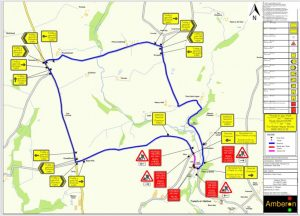 road closure map